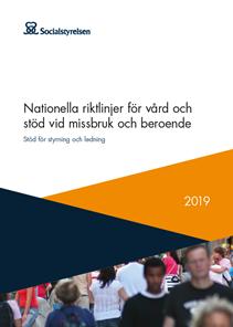Omslag till Nationella riktlinjer för vård och stöd vid missbruk och beroende